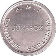 Token - Wurlitzer Seeburg A.M.I – obverse