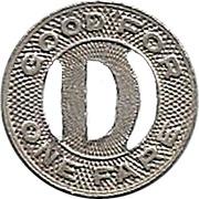 1 Fare - Dubuque Electric Company (Dubuque, Iowa) – reverse
