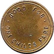 1 Childs Fare - Nelson Damrill Transit Co. (Pittsburg, Kansas) – reverse