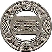 1 Fare - Salina Transit Co. (Salina, Kansas) – reverse