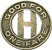 1 Fare - Holyoke Street Ry. Co. (Holyoke, Massachusetts) – reverse