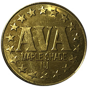 Token - AVA (Maple Shade, New Jersey) – obverse