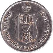 Token - Shell Üç Büyükler Futbol Yıldızları 1997 (Beşiktaş; Ertugrul Saglam) – reverse