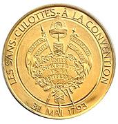 Token - L'Histoire de la Révolution Française (Les sans-culottes à la convention) – reverse