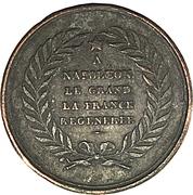 Medallion - Restoration of the Statue of Napoleon I on the column of Austerlitz – reverse