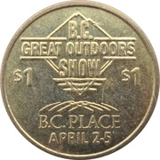 1 Dollar - B. C. Great Outdoors Show – reverse