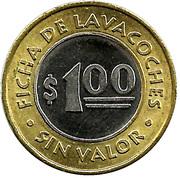 1 Dollar Carwash Token - Ficha de lavacoches – obverse