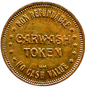 Car Wash Token - Pro-Lube of America (Blue Springs, Missouri) – reverse