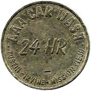 Car Wash Token - AAA 24 HR (Mission Viejo, California) – obverse