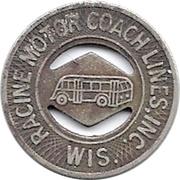 1 Fare - Racine Motor Coach Lines, Inc. (Racine, Wisconsin) – obverse