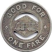 1 Fare - Racine Motor Coach Lines, Inc. (Racine, Wisconsin) – reverse