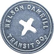 1 Adult Fare - Nelson Damrill Transit Co. (Pittsburg, Kansas) – obverse