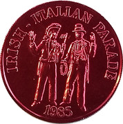 Mardi Gras Token - Pete Fountain's Half / Fast Walking Club - Irish Italian Parade (New Orleans, Louisiana) – obverse