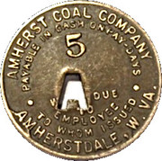 5 Cents - Amherst Coal Company – reverse