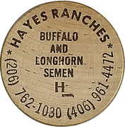 1 Wooden Nickel - Hayes Ranches – obverse