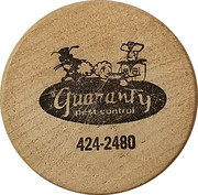 Wooden Nickel - Guaranty Pest Control (Anniston, Alabama) – obverse