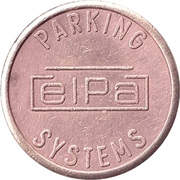 Parking Token - ELPA Parking Systems – reverse
