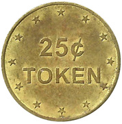 25 Cents Token (No Cash Value) – obverse