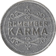 Token - My Two Cents (Remember karma) – obverse