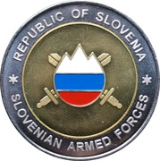 Token - Slovenska vojska (1st SAF Brigade, coloured) – obverse