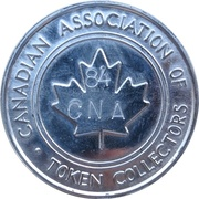 1 Cup Coffee - CNA 84 (Canadian Association of Token Collectors) – obverse