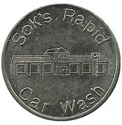Car Wash Token - Sok's Rapid (Saint Cloud, Minnesota) – obverse