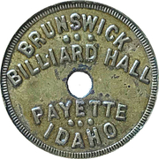 5 Cents - Brunswick Billiard Hall (Payette, Idaho; Six dots obv.) – obverse