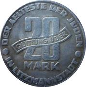 20 Mark (Lodz Ghetto; Replica) – reverse
