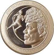 Token - Great Olympic Moments (Wilma Rudolph) – obverse