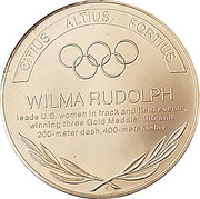 Token - Great Olympic Moments (Wilma Rudolph) – reverse