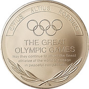 Token - Great Olympic Moments (The Great Olympic Games) – reverse