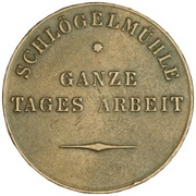 Token - Full Day's Work (Imperial Paper Mill, Schögelmühl) – reverse