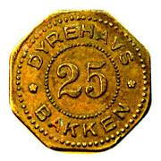 25 Øre - Dyrehavs Bakken - Fortuna Hallen – obverse