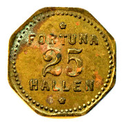 25 Øre - Dyrehavs Bakken - Fortuna Hallen – reverse