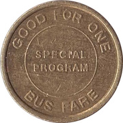 1 Bus Fare Token - Suffolk County New York – reverse