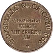 Token - Sparkasse Weltspartag 1965 (Hannover) – reverse