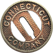 1 Fare - Connecticut Company (New Haven, Connecticut) – obverse