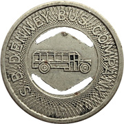1 Fare - S. B. Denney Bus Company (Muncie, Indiana) – obverse