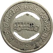 1 Fare - S. B. Denney Bus Company (Muncie, Indiana) – obverse
