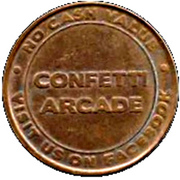 Video Game Token - Confetti Arcade – obverse
