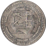 1 Dollar - Nebraska Centennial (Johnson County) – obverse