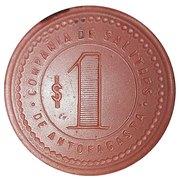 1 Peso - Compañia de Salitres de Antofagasta – reverse