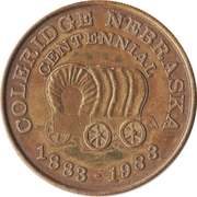Token - Coleridge, Nebraska Centennial – obverse