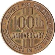 Token - Coleridge, Nebraska Centennial – reverse