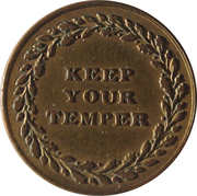 Gambling Token - Keep Your Temper – reverse