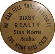 Wooden Nickel - Bixby Realty – obverse