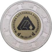 1 Dollar - Manitoba Lotteries Foundation – reverse