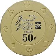 50 Cents - Grand Villa Casino (Burnaby, British Columbia) – obverse