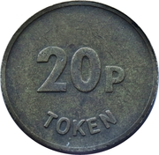 20 Pence Token – reverse