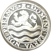 Lion Dollar 1597 (Bullion restrike) – reverse